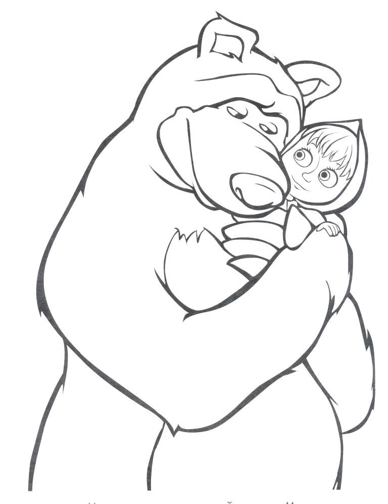 раскраска маша и медведь обычные раскраски раскраски